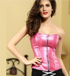 Wholesale 2014 New Arrival Occident Palace Style Pink Black Sexy Zipper Gather Bodyshaper Seamless Abdomen Tube Women s Waistcoat GJY3