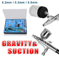 Wholesale TD K cc Action Airbrush Kit Gravity Air Brush Feed Tattoo Gun Professional Makeup Machine