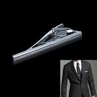 aqua necktie - Fashion Men Metal Silver Tone Simple Necktie Tie Bar Clasp Clip