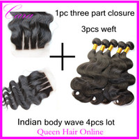 Brazilian Hair Straight 8-30inch Grade 5A Brazilian Virgin Human Hair 4pcs lot,1 Piece Three 3 Part Lace Top Closure with 3Pcs Hair Bundle Body Wave