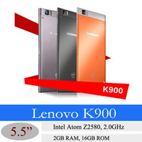 Lenovo 5.5 Android 5.5 Inch Lenovo K900 Smartphone Quad Core Intel Powered 2.0GHz FHD Screen 2G RAM 16G ROM Android 4.2 GPS WIFI Bluetooth free shipping 3pcs