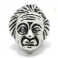 albert engagement rings - New Design Albert Einstein Great Scientist Ring L Stainless Steel Punk Gothic Mens Wholeslae Price Cool Ring