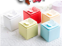 Wholesale 100Pcs Creative Butterfly Candy Boxes Wedding Favor Holders Gift Boxes