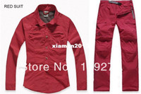 Camping & Hiking Full Polyester New casual women Spring&Summer quick-dry hiking shirt&pant female fishing upper wear&trousers suit plus size wholesale&retail G
