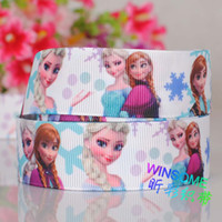 Wholesale 10yards quot mm Frozen princess adventure printed cartoon grosgrain ribbon DIY gift ribbon