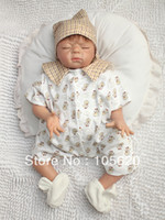 Unisex Birth-12 months Vinyl 22 inch Lifelike Reborn baby dolls Silicone vinyl doll Soft Toys for girls handmade monster baby doll LEWIS
