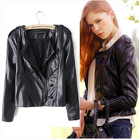 Jackets Women Polyester 2014 shorts style women's Machine PU wagon jacket