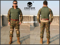 Camping & Hiking Men Spring EMERSON Gen2 Combat Suit&Pants shirt+pants MAPART Digital Woodland free ship