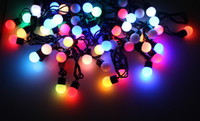 Christmas christmas lights color led - New m RGB Ball LED String Light Color Changing For Christmas Holiday Party Decoration L2018B10