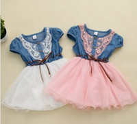 Recommened 2014 Children Girls Dress Dresses Puff Sleeve Den...