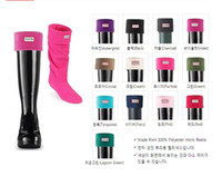 Wholesale 12 colors Hunter Fleece Welly Socks boots socks wellies on sale