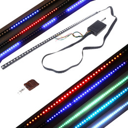 Wholesale High brightness Modes of Scanning Colors Knight Rider Lights Lighting Bar SMD LED V with Remote Control DHL K947