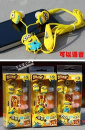 Wholesale Despicable me mm Headset Cartoon Headphone Universal Earphone For PC MP3 MP4 Cellphone iphone s samsung s3 s4 PSP Etc by China Post