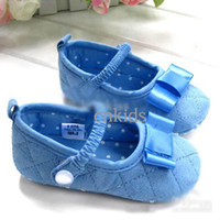 Wholesale Fashion Baby First Walker Shoes Kids Toddler Shoes Silk Baby Shoe Gift Set Children Shoes With BowsKS40327
