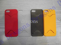 For Apple iPhone Plastic  iphone 5 5G frosted hard plastic credit bus card colorful case cover for iphone 5 5G