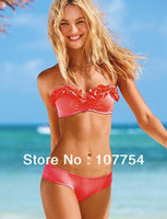 Wholesale swimwear Dropshipping push up bathing suit tops discount swimsuit ruffle bikini cups swimwea