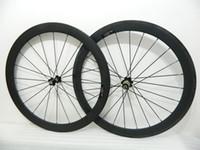 Wholesale NEW c carbon road bike wheels carbon wheels black mm carbon clincher tubular wheelset