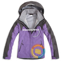 Wholesale 3 layer lamination hiking jacket lady waterproof hoody nylon windbreaker jacket new style ski jacket camping outdoor wear