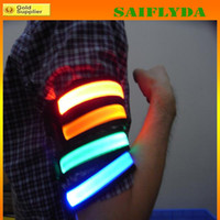 Wholesale Outdoor Sports Safety Luminous Lattice Flashing Arm band