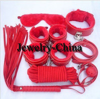 Bondage Rope & Tape Female  hot ctory Outlet Value Package Sex toys flirting Adult games Sex furniture feather Small whip Cotton rope Eye mask Bondage Tied Handcuffs pl