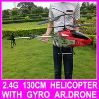 Electric 2 Channel 1:4 Hot Sale Big 130CM 2.4G 3.5CH Remote Control Profession Double Blade RC Helicopter Ar.drones Drone With Camera Best Gift Toy 450