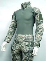 acu combat shirt - Combat Shirt amp Pants Digital ACU Camo w Elbow Knee Pad free ship