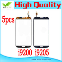 For Samsung Touch Screen  5pcs lot hotsale good quality touch screen digitizer for Samsung Galaxy Mega 6.3 i9200 i9205 Touch Screen Glass Digitizer