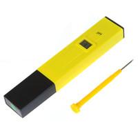 Wholesale Best Sale Mini Digital LCD PH Meter Tester Pen Aquarium Pool laboratory Yellow freeshipping dropshipping H9211