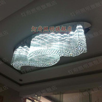 LED 110V Surface mounted Crystal Light Crystal Ceiling living room ceiling led square rectangular oval chandelier creative living room ceiling