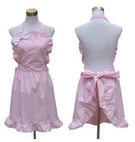 Wholesale Hot selling Household Cleaning Accessories aprons Korean bow pink apron Japan aprons kitchen accessories