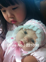 "Unisex Birth-12 months Vinyl 22"" Reborn baby dolls Silicone vinyl doll kits Soft Toys Hot dolls for girls handmade doll Children's Day gift"