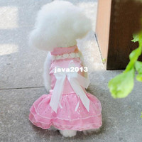 Купить Принцесса домашних животных-FreeShipping Pet щенка собака Девочка принцесса официально платье Одежда Костюм Установить свадебное платье Одежда LX0077 DropShipping