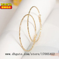 Wholesale Fashion bamboo pattern large circle earrings ear ring hollow circle earrings simple personality x044