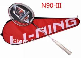 Wholesale Original Lining Carbon Badminton Rackets N90 high quality li ning n90iii racquet