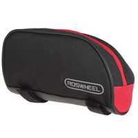 Wholesale 7PCS Roswheel Mountain Bike Bicycle Front Tube Pipe Bag Pouch With Velcro Straps Optional Colors CYC_606