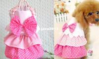 HOT Малый Pet одежды собаки Девушка принцессы Лук костюм комплект платье Щенок Одежда Розовый