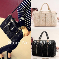 Wholesale 2014 Women s Handbag Oblique Carry Casual Big Shoulder Bag Retro Lace Bags