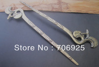 Wholesale 8pcs of Antique silver and antique bronze flower pattern Bookmark mmx160mm