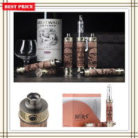Wholesale New SMOKJOY N Fire II Wood Mod kit Variable Voltage Battery Wood Box E Cigarette