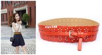 Wholesale Fashion Orange bag Buckle Thin Flower Hollow Wide Belt Girdle Charms Decorate Waist Rope Waistband DOF6