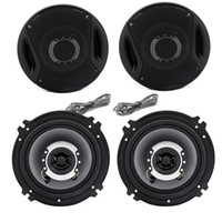 Wholesale New Watts High quality way Two Coaxial Car Motorcycle Audio Speaker Black TK1016