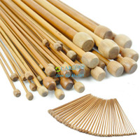 Wholesale 108pcs Bamboo Knitting Needles Sets Bamboo Crochet Hooks sizes