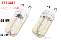 Wholesale cheap only USD G9 led Support dimmer W LED Lamp led light bulbs V Cold white Warm white High quality X10