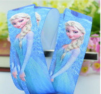 Wholesale Cheap Frozen princess ice Romance printed ribbon packing DIY cartoon polyester grosgrain ribbon grosgrain ribbons DIY hairbow material