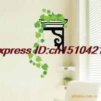 Graphic vinyl other Animal Wholesale PVC sticker wall hanging green background - sitting room the bedroom decorates one TC991 - wall stickers