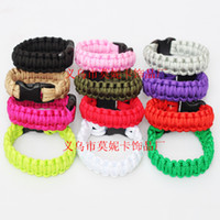 paracord bracelets - 68 Colors for Choose Outdoor Bracelet Survival Escape Life saving Bracelet Paracord Hand Made With Plastic Buckle