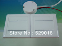 Wholesale 220v MHZ gang touch switches with1 receiver Tixiton glass wall light transmitter dimmer remote controller