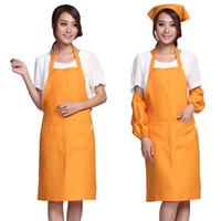 apron suppliers - free ship Derlook logo work aprons series apron orange Domestic apron cotton Cloth aprons cotton supplier