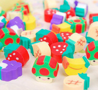 Wholesale Fashion Adorable sweet MINI fruit small Novelty Cartoon Rubber Eraser