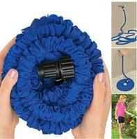 Wholesale FT hose Expandable amp Flexible green water garden hose sprayer water gun